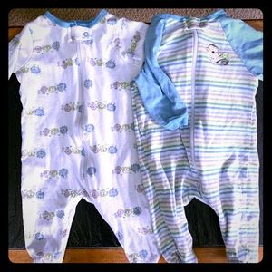 Baby Zip-up Footie Pajamas